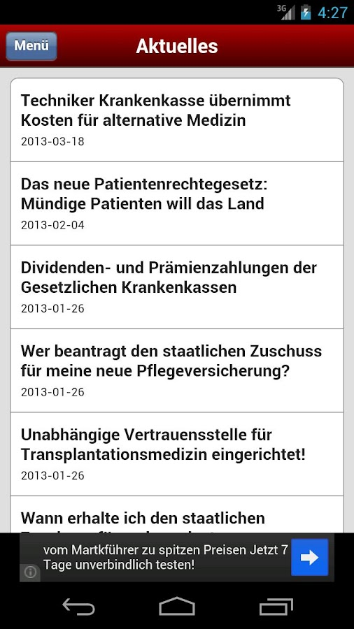 Sozialversicherungs Blog- screenshot