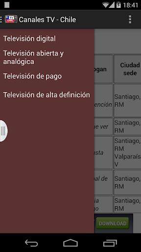 Televisiones de Chile - Lista