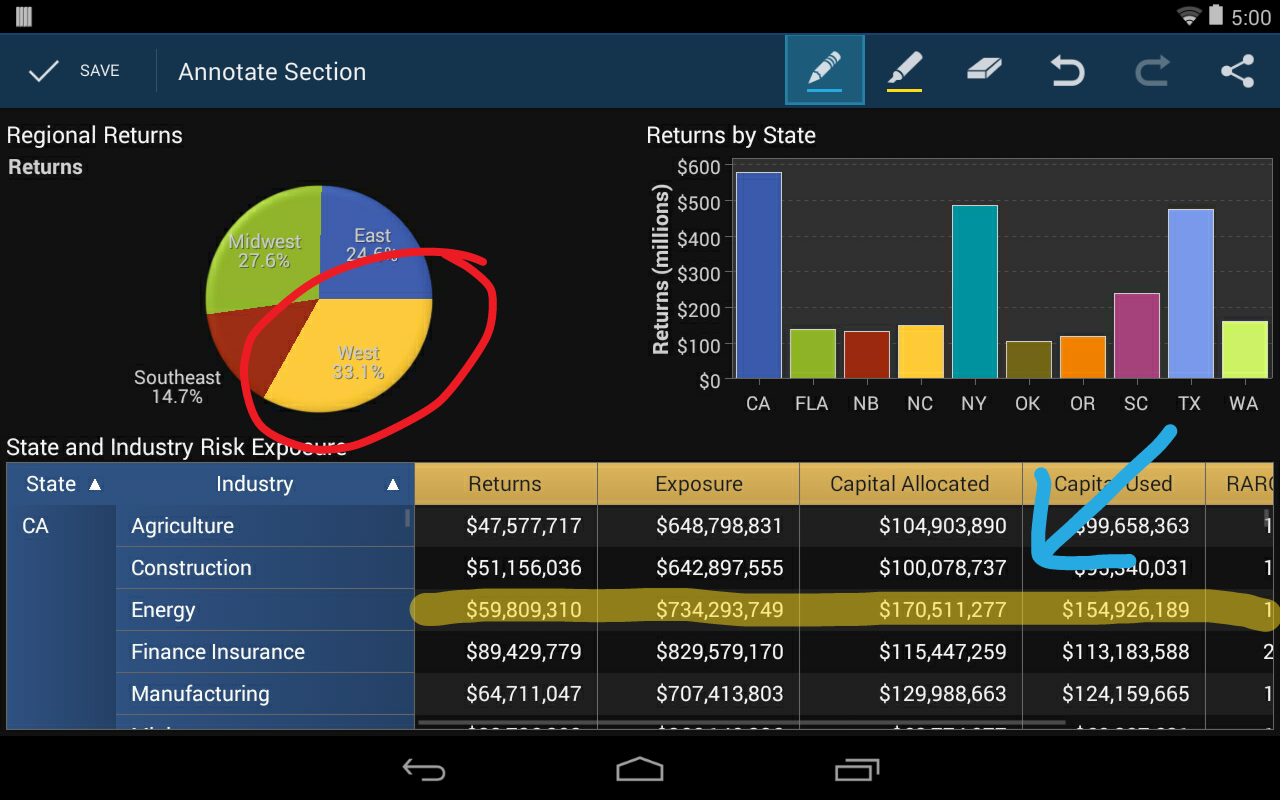 SAS® Mobile BI - screenshot