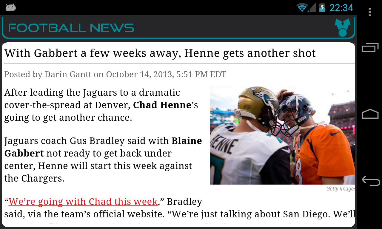 Jacksonville Football News- screenshot