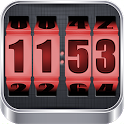 3D Rolling Clock RED icon