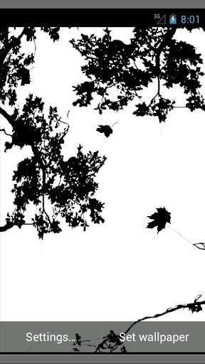 Nature silhouette wallpaper