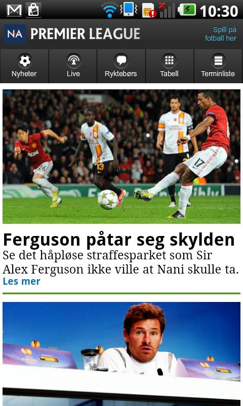 NA fotball - screenshot