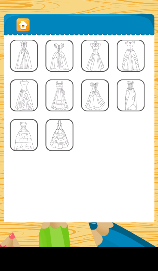 Dresses Princess Coloring- screenshot