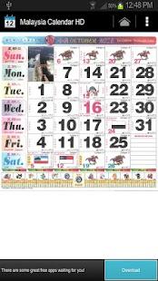 2013 Malaysia Calendar HD- screenshot thumbnail
