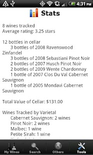 Wine - List, Ratings & Cellar - screenshot thumbnail