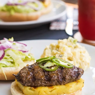Pineapple Burgers with Whiskey Glaze