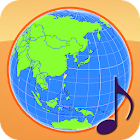 Globe Earth 3D: Flags, Anthems and Timezones icon