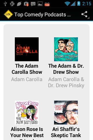 Top Comedy Podcasts (No Ads)- screenshot