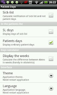 Medical days calculator - screenshot thumbnail