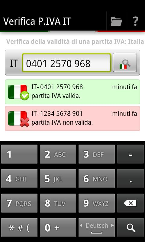 Verifica P.IVA IT- screenshot