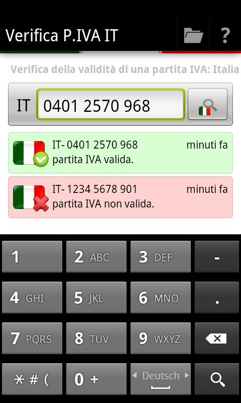 Verifica P.IVA IT - screenshot