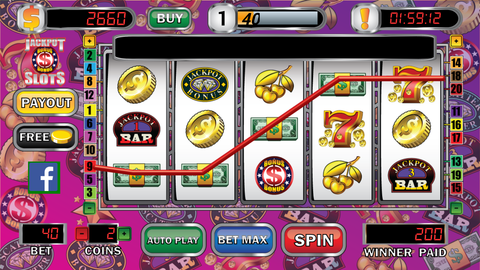 3 reel slot machine jackpots over 12000