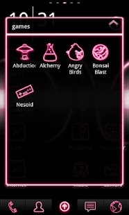 Neon Pink ADW Theme- screenshot thumbnail