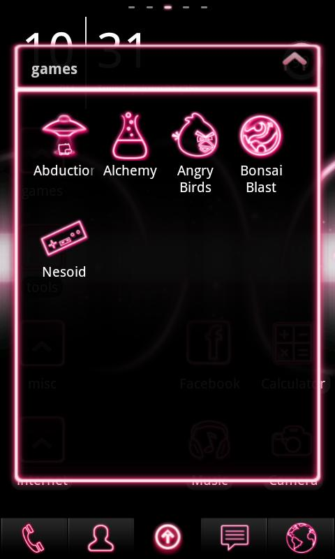Neon Pink ADW Theme - screenshot