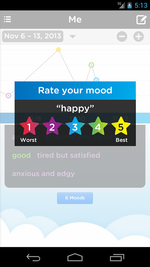Mood Tracking Journal & Diary - screenshot