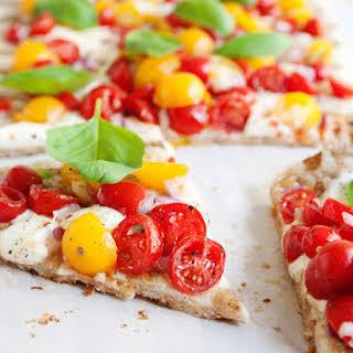 Grilled Bruschetta Pizza.