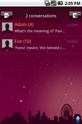 Easy SMS PurpleNight theme- screenshot