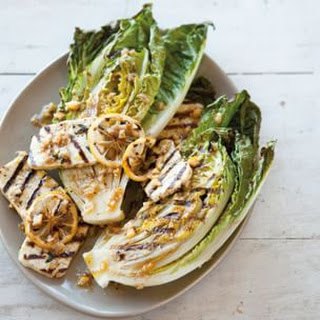 Grilled Halloumi and Little Gem Salad with Preserved-Lemon Dressing Recipe