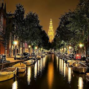 Amsterdam Canal by Darlis Herumurti - City,  Street & Park  Night