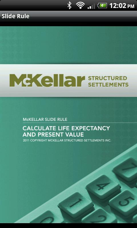 McKellar Slide Rule- screenshot