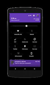 Black MTRL - Purple CM12 Theme v2.2