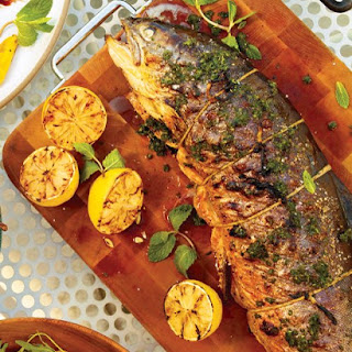 Grilled Whole Arctic Char.