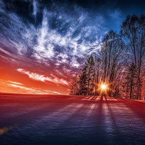 Askim, Norway 121 by IP Maesstro - Landscapes Sunsets & Sunrises ( winter, ip maesstro, hdr, sunset, snow, forest, sunrise, landscape, norway, , #GARYFONGDRAMATICLIGHT, #WTFBOBDAVIS )