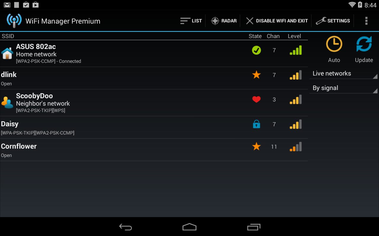 WiFi Manager- screenshot