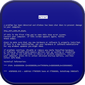 Blue screen go launcher theme