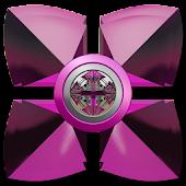 Next Launcher Theme Pink Gear