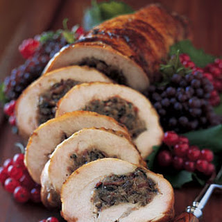 Turkey Breast Roulade with Crimini, Porcini, and Pancetta