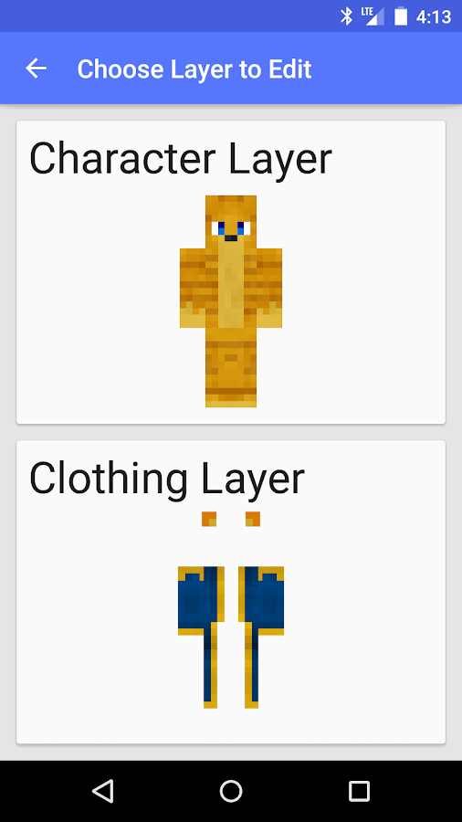 Skin Creator for Minecraft - screenshot