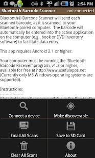 Bluetooth Barcode Scanner - screenshot thumbnail