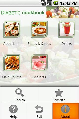 Diabetic Cookbook - screenshot