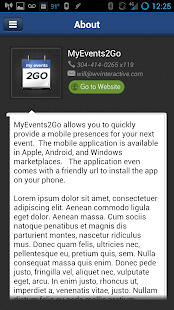 MyEvents2Go™- screenshot thumbnail