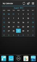 Screenshot of GOWidget Theme Holo Blue Free