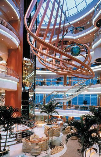 Vision-of-the-Seas-Centrum - Vision of the Seas' Centrum, a multi-level atrium and hub of the ship, hosts live music, art auctions, aerial shows and other entertainment.