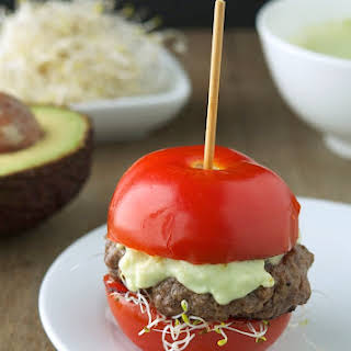 Tomato Avocado Burgers (Low Carb and Gluten-Free).