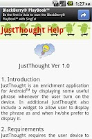 Screenshot of JustThought