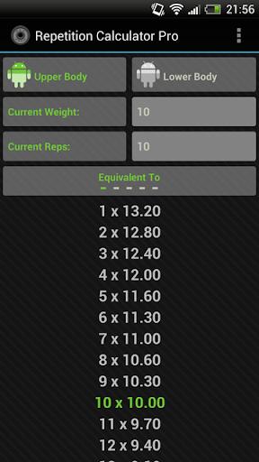 Rep Calc Pro 1 Rep Max