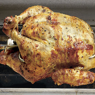 Spit-Roasted Chicken with Tarragon Butter