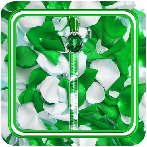 綠色花瓣拉鍊儲物櫃 個人化 App LOGO-硬是要APP