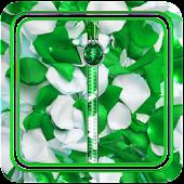 Green Petals Zipper Locker
