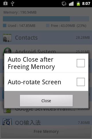 Memory Cleaner - screenshot
