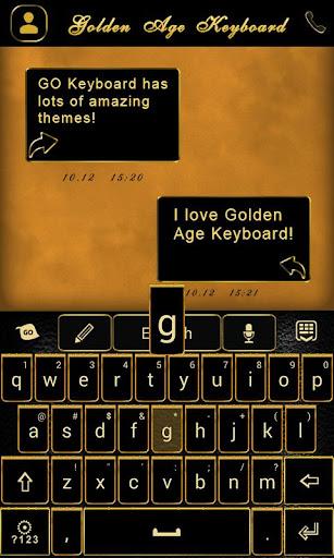 無料个人化AppのGO Keyboard Golden Age Theme|記事Game