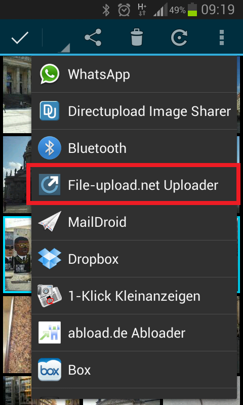 File-upload.net Uploader – Screenshot