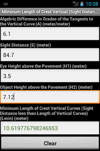 Highway and Road Calculator - screenshot thumbnail