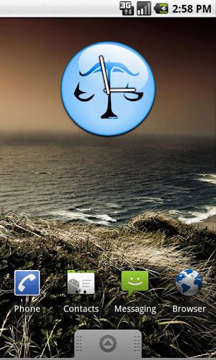 Zodiac Libra Clock Widget