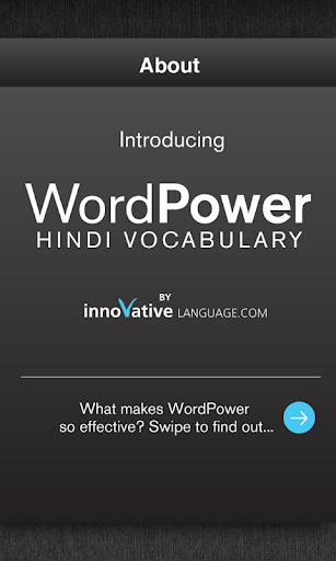 Learn Hindi WordPower